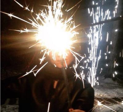 Земфира показала в социальная сеть Instagram как праздновала Новый Год 2014