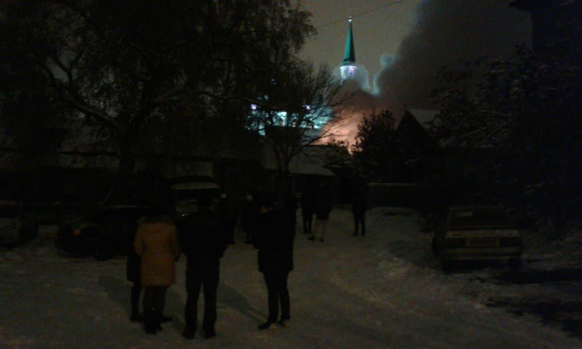 Интенсивный пожар около мечети вУфе: сгорели 4 дома