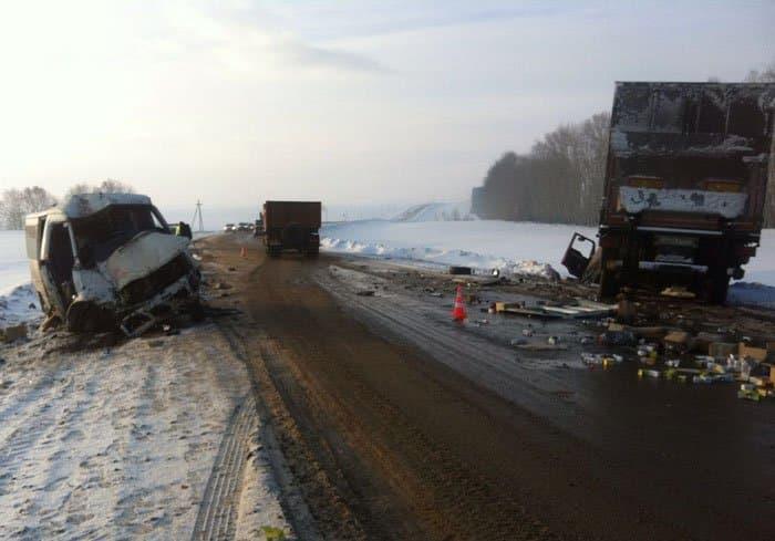 ВБашкирии натрассе микроавтобус врезался вфуру, шофёр умер