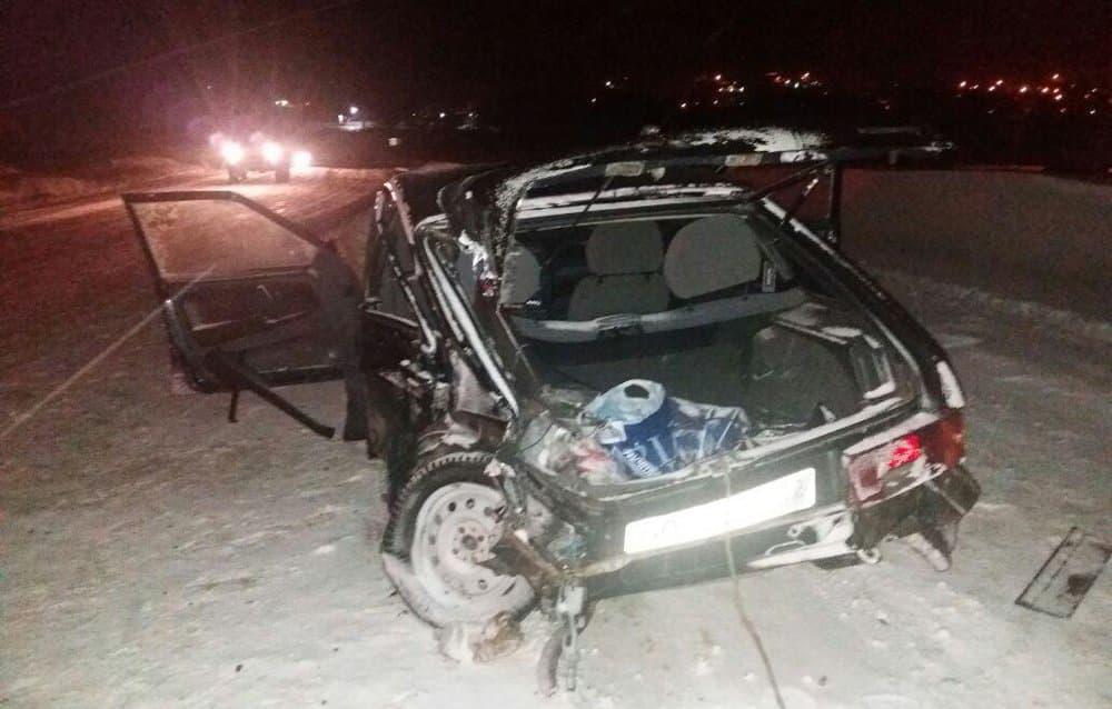 ВБашкирии ВАЗ-2114 вынесло навстречную иномарку, умер пассажир