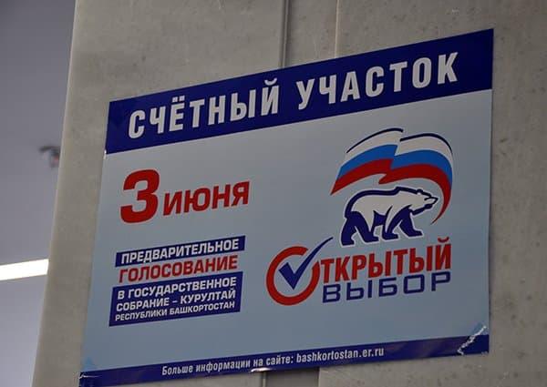 Явка на праймериз «Единой России» в Башкирии составляет 5,77%