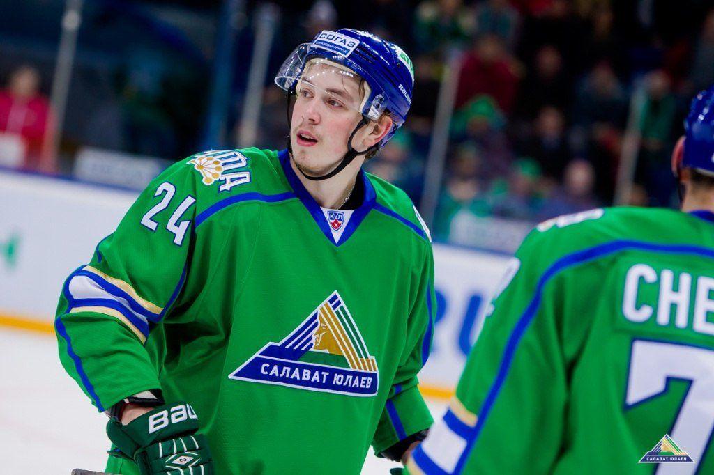 Форвард «Салавата Юлаева» Воробьев подписал договор склубом НХЛ «Филадельфия»
