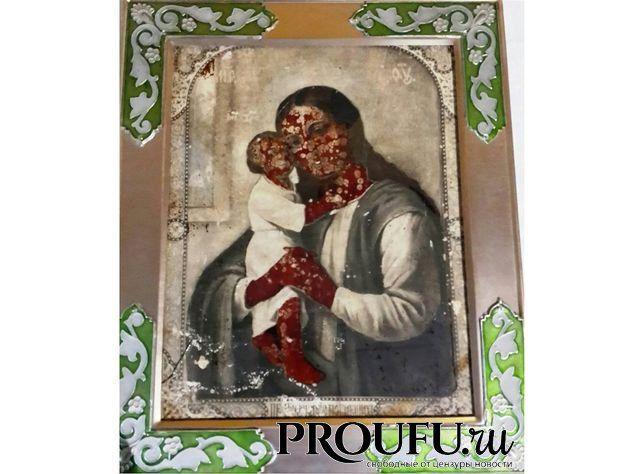 В Башкирии закровоточила икона Божьей Матери