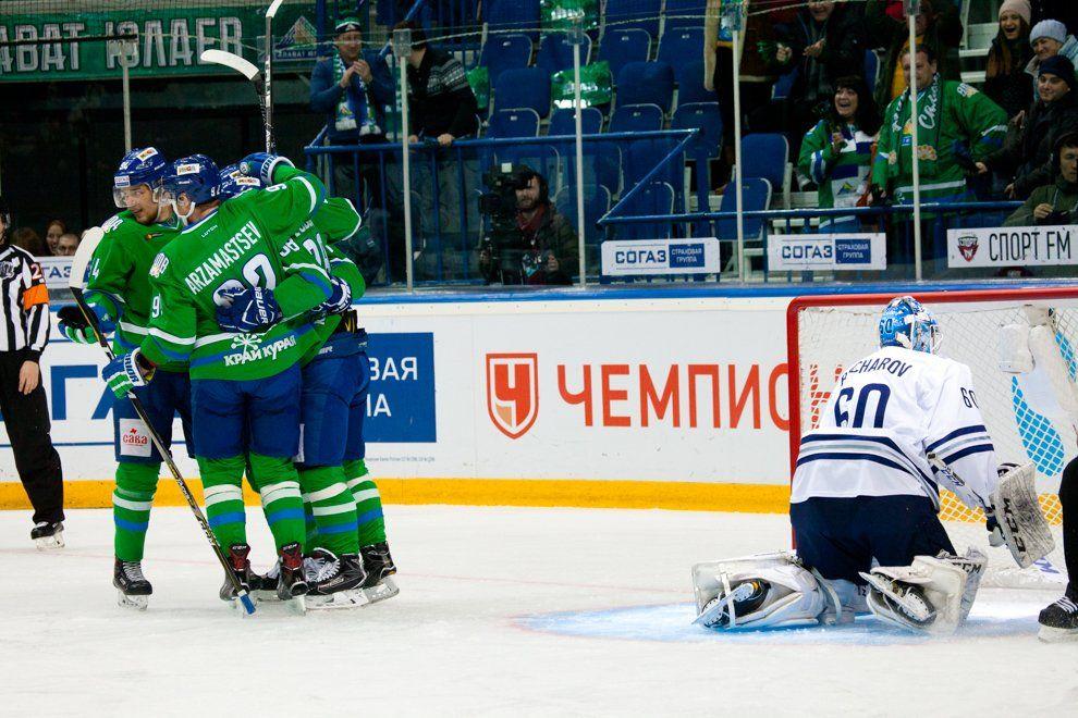 КХЛ. «Салават Юлаев» одерживает 3-ю победу подряд