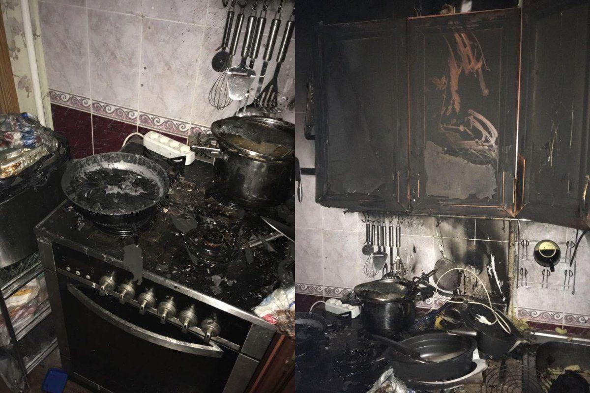 ВУфе сгорела квартира из-за оставленной без присмотра включенной газовой плиты