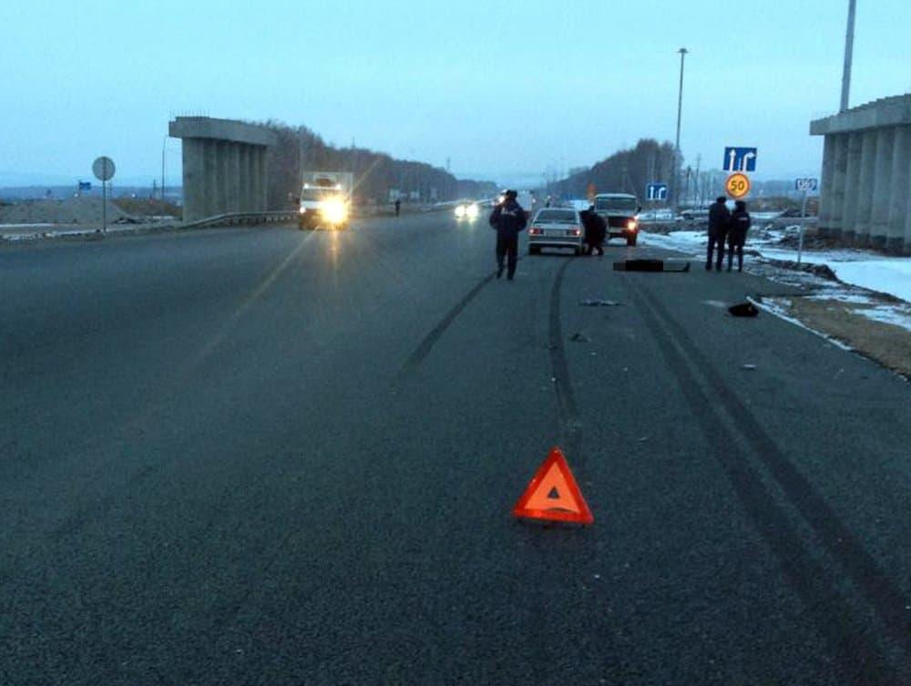 ВБашкирии пешеход-нарушитель умер под колесами легкового автомобиля