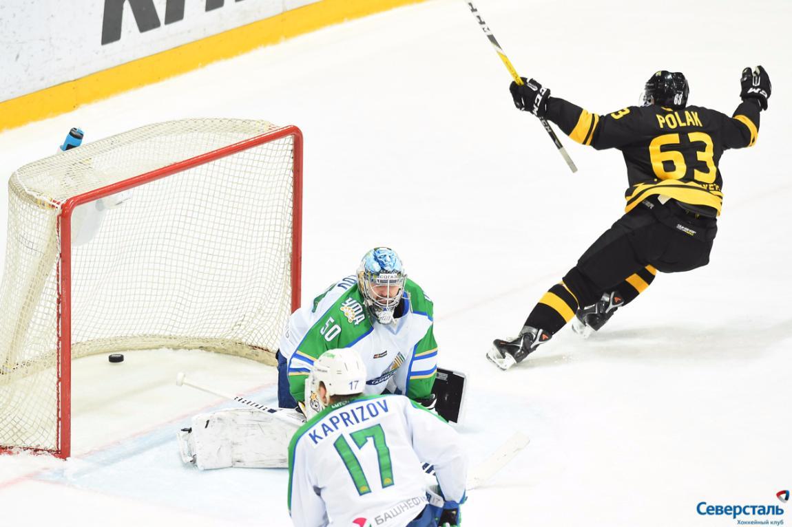 Череповецкая «Северсталь» дома победила вовертайме «Салават Юлаев»