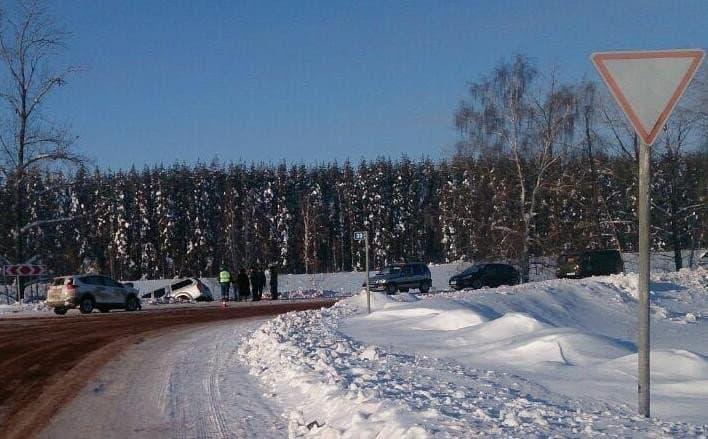 ВБашкирии столкнулись две иномарки, пострадали три человека