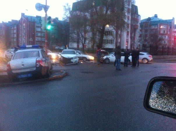В Башкирии произошло ДТП с участием полицейского автомобиля