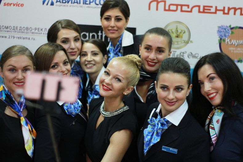 Встолице прошел финал конкурса зазвание самой красивой стюардессы Российской Федерации