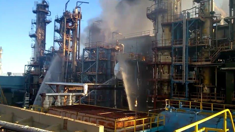 Ночью нанефтяном заводе вУфе произошел пожар: Сообщается опогибших