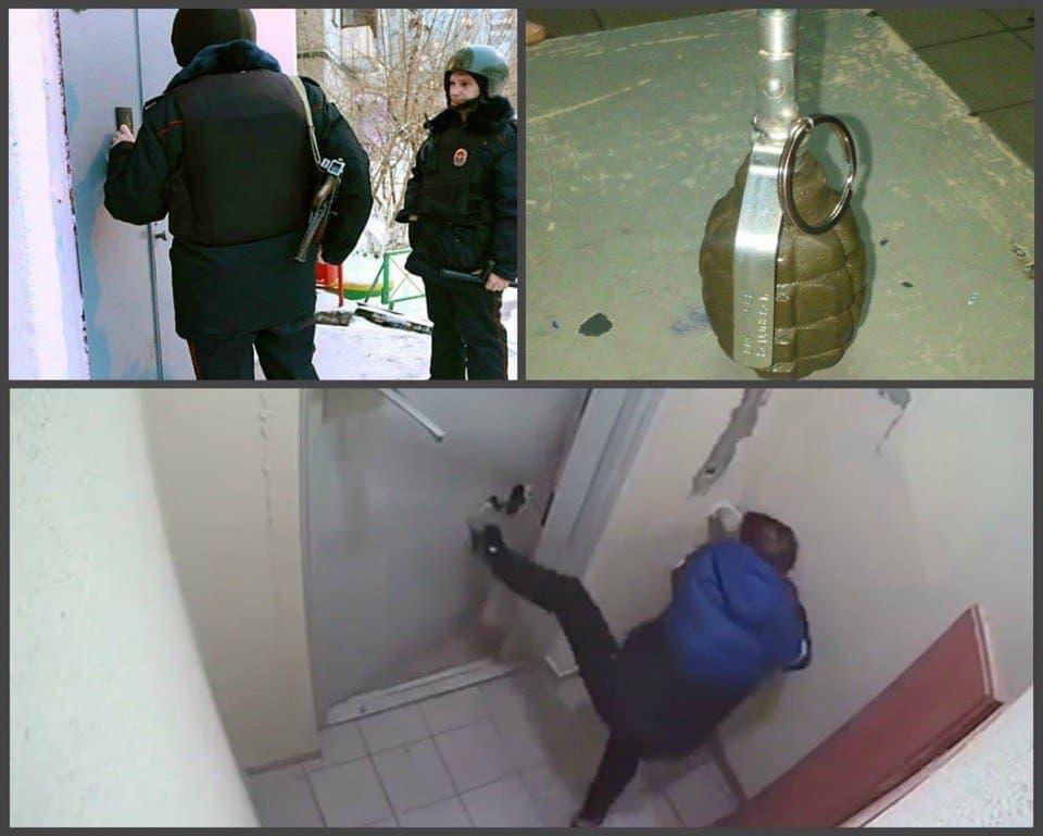 Нетрезвый мужчина грозил соседям гранатой— Ужас вУфе