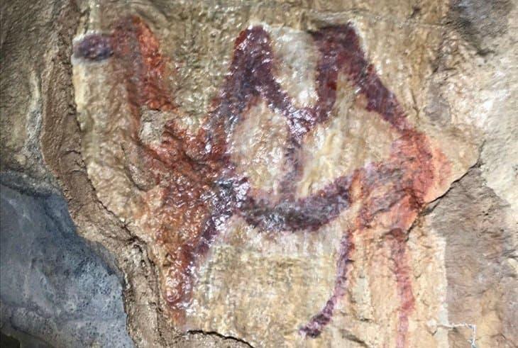 Русские археологи отыскали наскальное изображение двугорбого верблюда