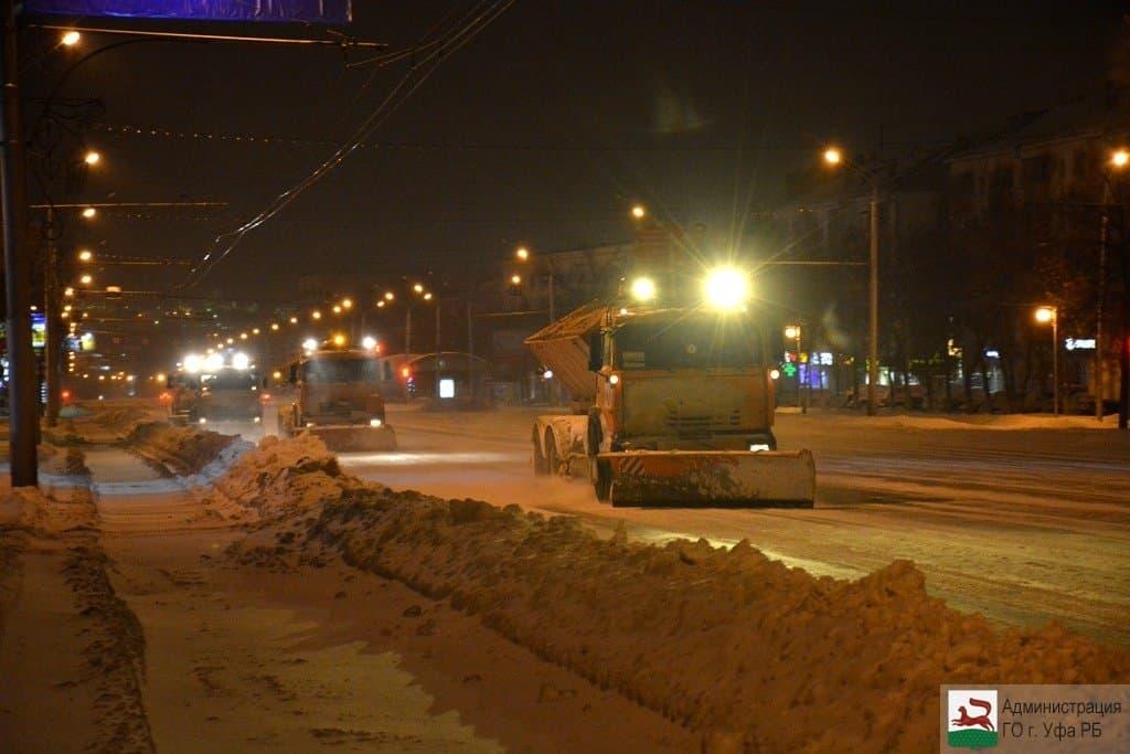 Сулиц Уфы вывезено неменее 900 000 кубометров снега
