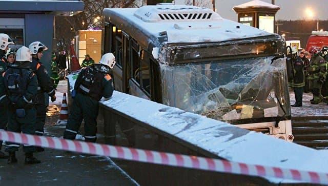 Группа ГАЗ: вовремя ДТП в столице России шофёр автобуса непытался тормозить