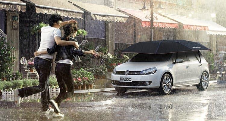 Американский стартап разработал многофункциональный зонт для автомобиля