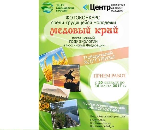Уфимскую молодежь приглашают принять участие вконкурсе «Медовый край»