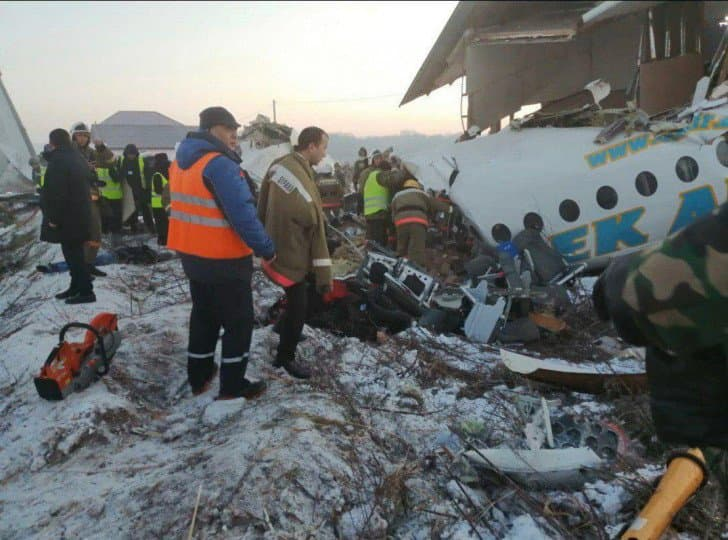 Названа предварительная причина авиакатастрофы в Казахстане -видео