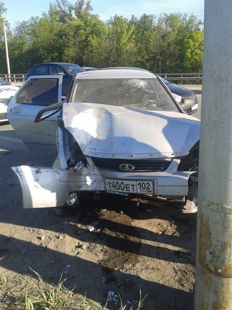 В Уфе произошла серьезная авария, есть пострадавшие
