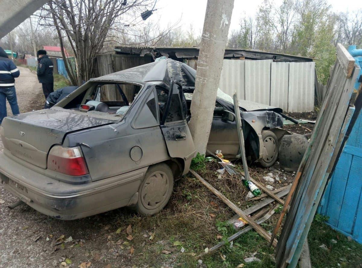 ВБашкирии нетрезвый шофёр врезался встолб: есть жертвы