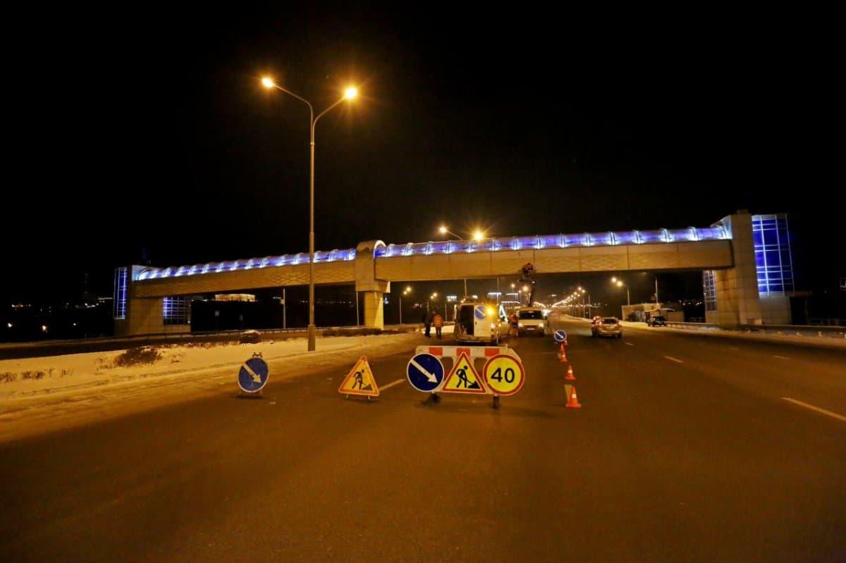 НаБельском мосту вУфе снова поменяют схему движения