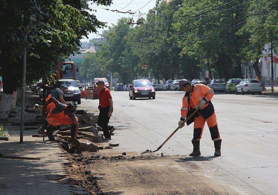 В Уфе начались работы по реконструкции улицы Первомайская