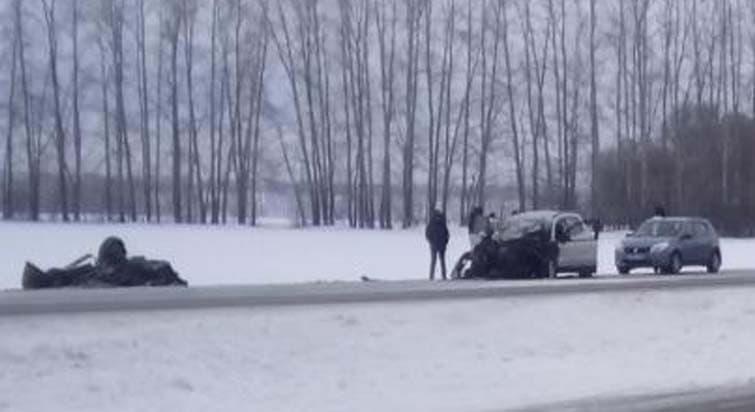 ВЧишминском районе влобовом столкновении пострадало 4 жителей