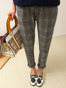 Free-Shipping-Korean-Brand-Bf-vintage-all-match-houndstooth-coarse-woolen-suit-pants-casual-pants-Tweed.jpg