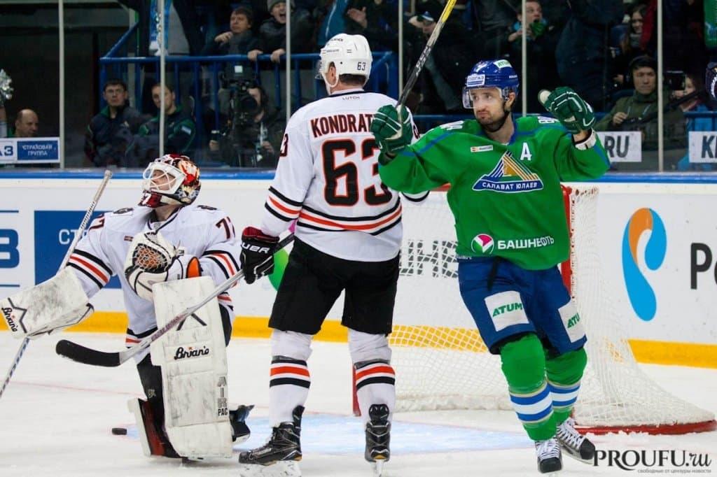 «Салават Юлаев» дома одержал волевую победу над «Амуром» вовертайме матча КХЛ